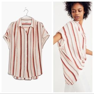 Madewell Central Shirt Stripe Button Down Top